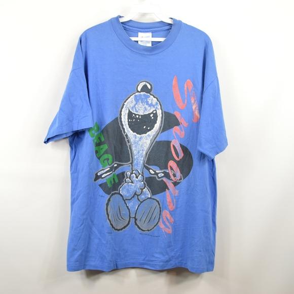 7d69878c Peanuts Shirts | Vintage 90s Snoopy Mens Xl Single Stitch T Shirt ...